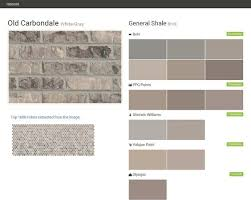 old carbondale white gray brick general shale behr ppg paints