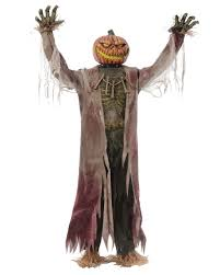 halloween animatronics sale pumpkin scarecrow halloween animatronic to buy horror shop com