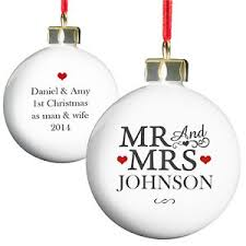 St Christmas Ornament Wedding - personalised mr u0026 mrs bauble xmas tree decoration christmas