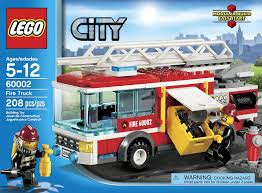 amazon com lego city fire truck 60002 toys u0026 games