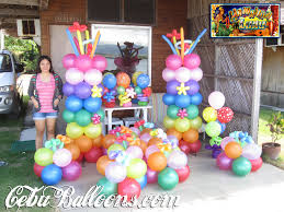 Balloon Decoration For Birthday At Home by Luau Party Ideas Balloon Decoration Packages Cebu Balloons And