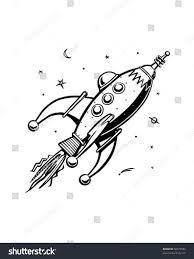 rocket clipart retro rocket pencil and in color rocket clipart