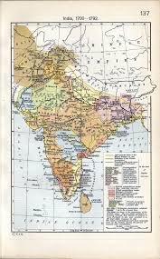India Map With States by Colonial India