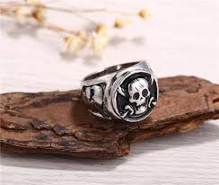 antique skull rings images One piece silver plated pirates antique skull rings jpg