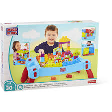 mega bloks first builders table fisher price megabloks first builders build n learn table big w