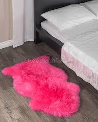 pink sheepskin rug 2x3 5 ft sheepskin town