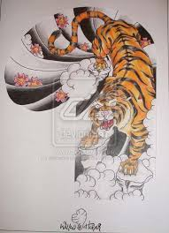 8 best tiger images on pinterest drawings art and japanese tattoos