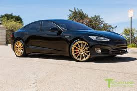 ferrari gold and black black 2015 tesla model s p85d custom ferrari black and black