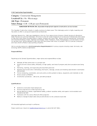 Best Construction Resume by Civil Construction Superintendent Job In Mississauga