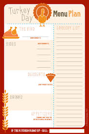 thanksgiving thanksgivingu planner dinner printable with grocery