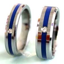 thin blue line wedding band wedding rings wedding corners