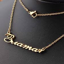 diy pendant choker necklace images Gold women fashion jewelry diy name necklace private custom jpg