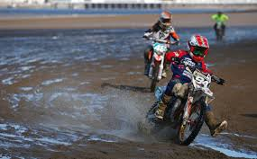 junior motocross racing beach racing in england