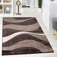 tappeto grande moderno tappeto di design moderno motivo ondulato screziato marrone beige