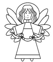 angel coloring christmas season nuttin u0027 preschool