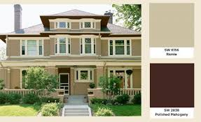 Brown Paint Colors For Exterior House - house colors that compliment a dark brown roof google search