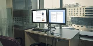 Computer Desk For Multiple Monitors To Be More Productive With Dual Monitors