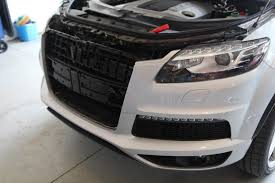 audi a7 parking rs grille install on q7 s line pics audiworld forums