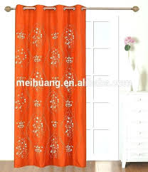 And Orange Curtains Orange Drapes Sheer Rod Pocket Wide Curtain Panel In