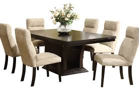 7 piece dining room table sets espresso dining room sets amazon com 7 pc leather brown 6 person