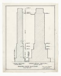 Building Ground Floor Plan by Rare Architectural Drawings For Sale The Empire State Building