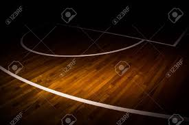 Basketball Court Floor Texture by Wooden Floor Basketball Court With Light Effect Stock Photo