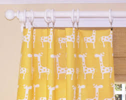 Yellow Nursery Curtains Corn Yellow Curtains Etsy