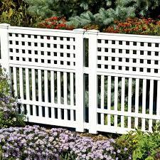 White Pvc Trellis Garden Border Fences