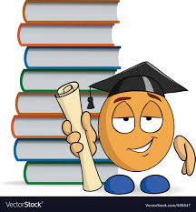 graduation books character graduation with books royalty free vector