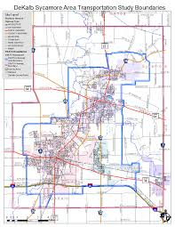 Elgin Illinois Map by Dekalb Sycamore Area Transportation Study Dekalb Il