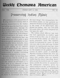 news paper writing historic oregon newspapers preserving history while shaping the title page from the weekly chemawa american featuring an article titled preserving indian music weekly chemawa american chemawa or february 02