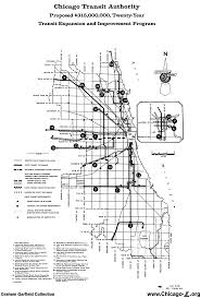 Map Of Chicago O Hare by Chicago U0027 U0027l U0027 U0027 Org Transit Plans New Horizons Plan 1958