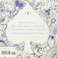 alice in wonderland color pages escape to wonderland a colouring book adventure good wives and