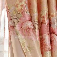 Peach Floral Curtains End Luxury Peony Floral Curtains For Living Room