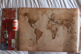 World Map Push Pin Board by Diy Mod Podge Canvas Map Happiness Centered