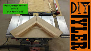 miter cuts on table saw make an inexpensive table saw miter sled 004 youtube