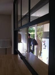 deco cagne chic cuisine fenêtre americaine passe plat intérieur cuisine salon