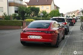 There U0027s No Way You Can Miss A Red Porsche Panamera Turbo S E Hybrid