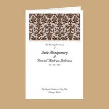 invitation programs new wedding programs to match the most popular wedding invitations