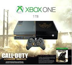 microsoft xbox one kinect bundle 500gb black console 7uv 00239 microsoft xbox one call of duty advanced warfare limited edition