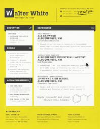 poor resume examples walter white resume loft resumes blog walter white resume