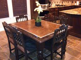 Distressed Copper Kitchen Table - Copper kitchen table