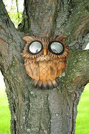 Owl Patio Lights by Amazon Com Red Carpet Studios Solar Powered Tree Face Light Owl