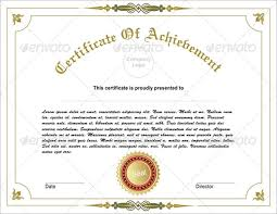 31 fabulous achievement certificate templates u0026 designs free