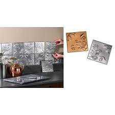 Tin Kitchen Backsplash Tin Kitchen Backsplash Tiles Set Of 14 Silver By Collections Etc