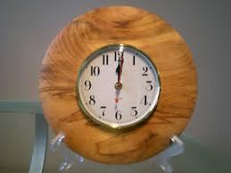 wood turned wall figured australian hoop pine wood turned wall clock ebay