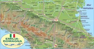 Modena Map by Pysical Map Emilia Romagna U2022 Mapsof Net