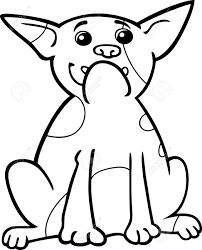 cartoon illustration of funny purebred french bulldog dog for