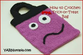how to crochet trick or treat bag youtube