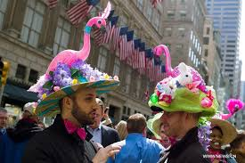 easter bonnets annual easter bonnet parade held in new york xinhua news cn